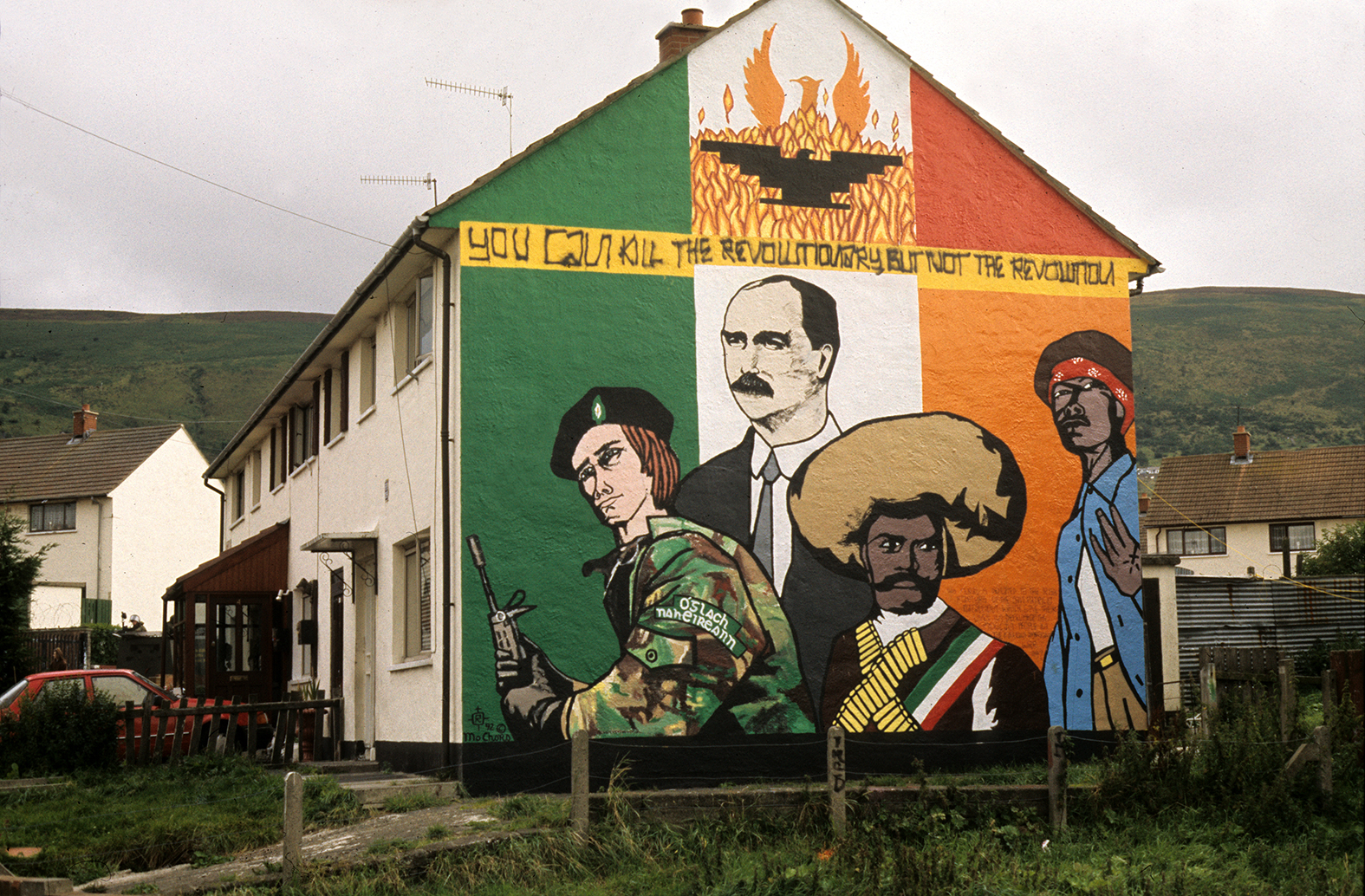 Murals in the north of ireland base for Emiliano zapata mural